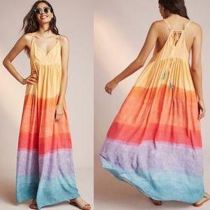 Anthropologie Carla Weeks Setting Sun Maxi Dress L